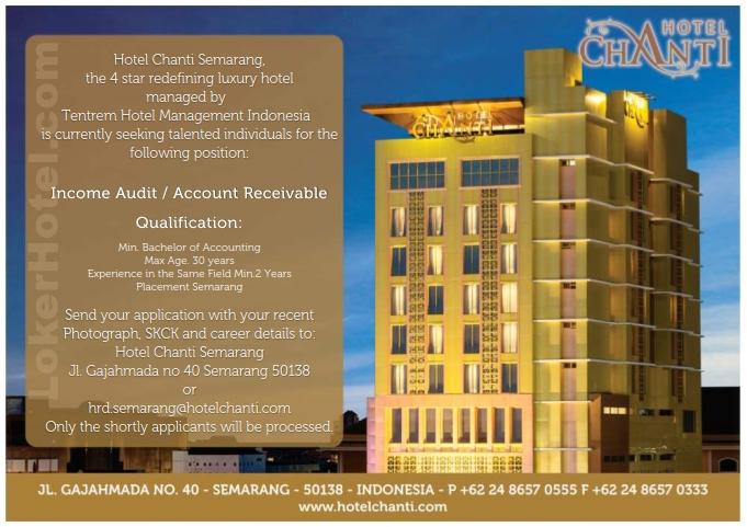 Hotel Chanti Semarang Loker Lowongan Kerja Hotel