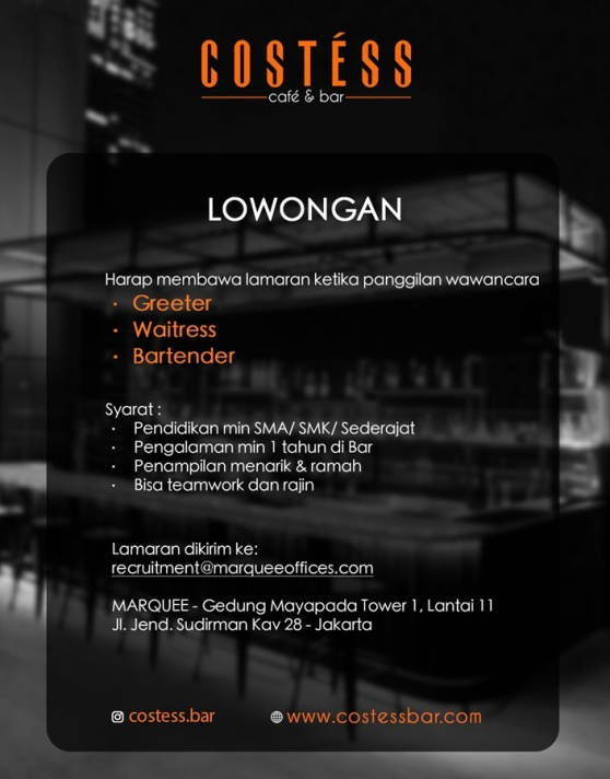 Costess Bar & Cafe Jakarta
