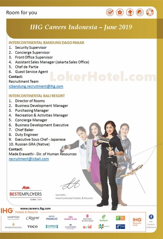 InterContinental Bandung, & Bali
