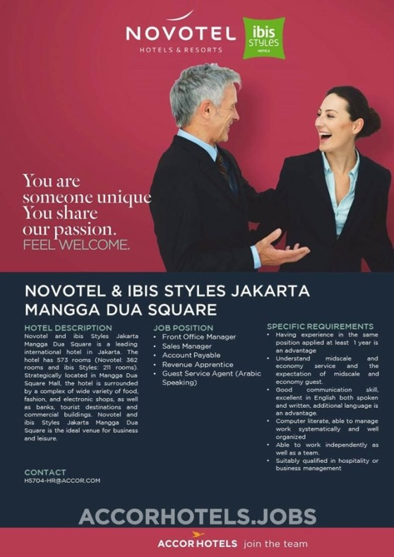 Novotel and ibis Styles Jakarta Mangga Dua Square