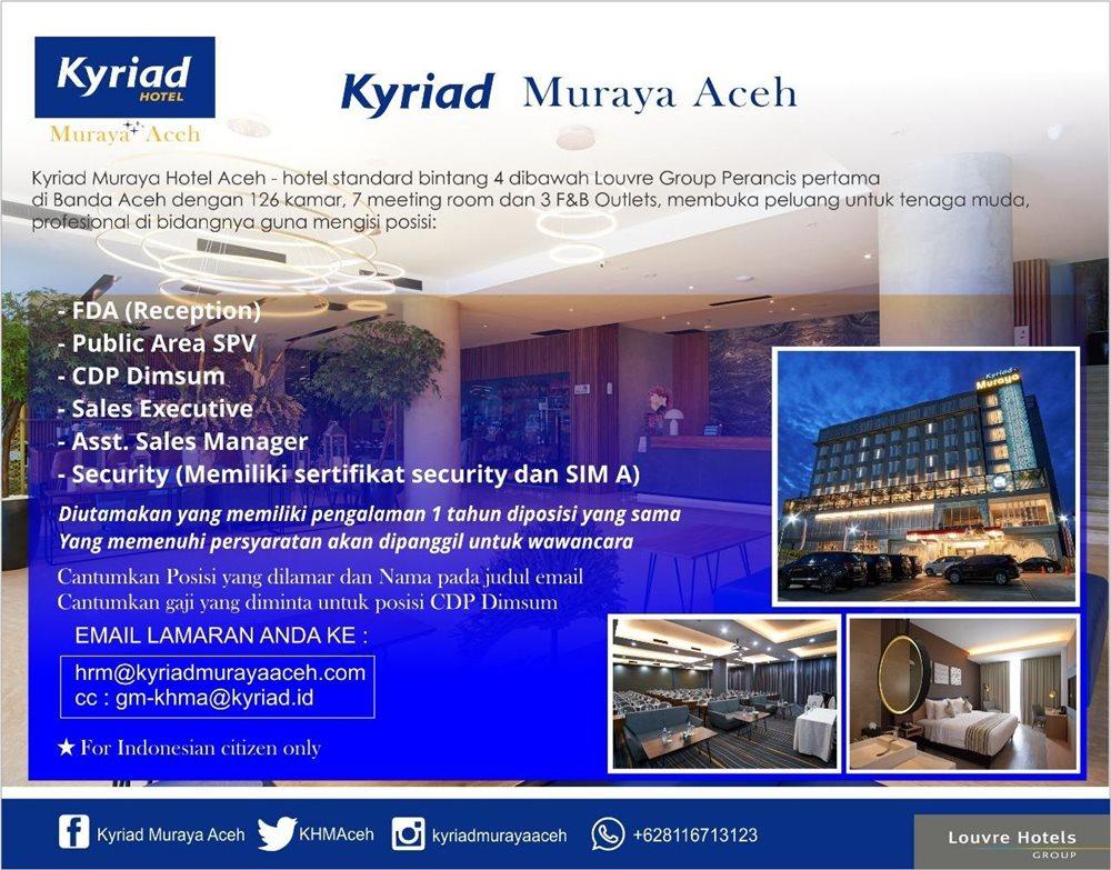 Kyriad Muraya Aceh Loker Lowongan Kerja Hotel