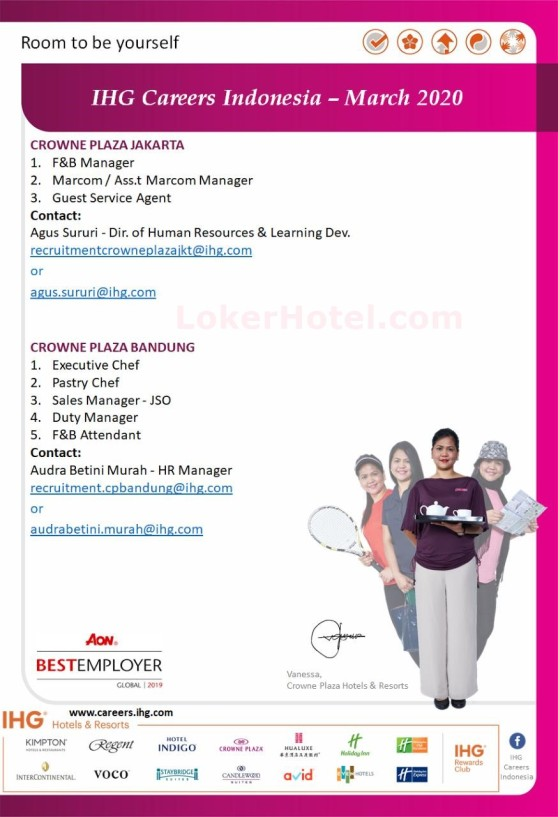 IHG Careers Indonesia March 2020